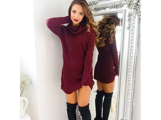 Dámské podzimní pletené šaty