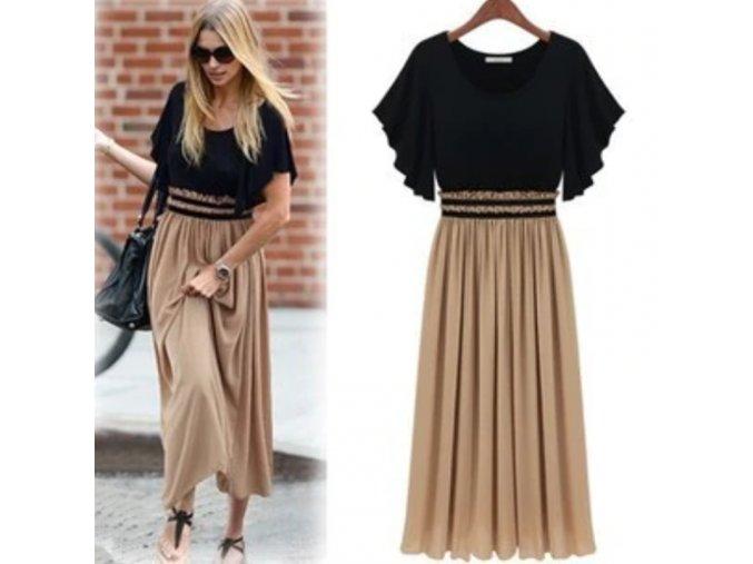 Podzimní stylové midi šaty