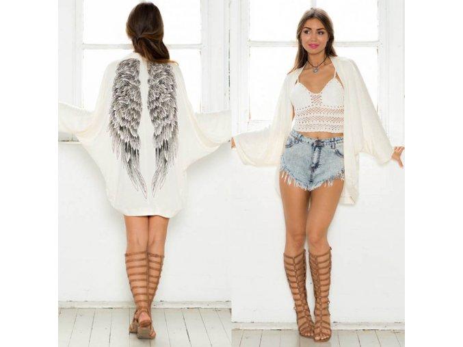Luxusní kardigan s andělskými křídly
