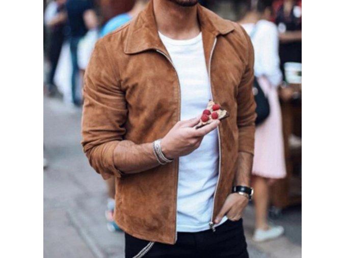 TOP luxusní pánská semišová bunda