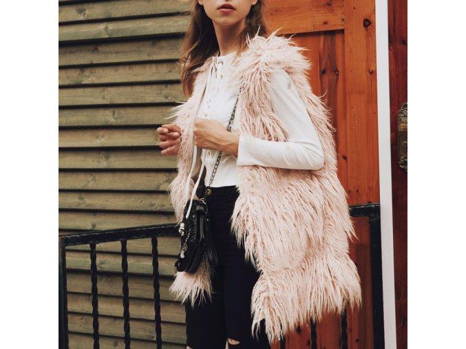 Luxusní chlupatá kombinovatelná vesta - 4 barvy