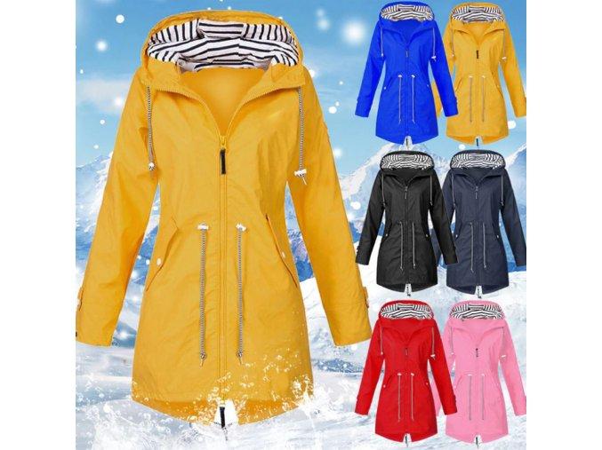 Dámská podzimní šusťáková bunda s kapucí - až 5XL