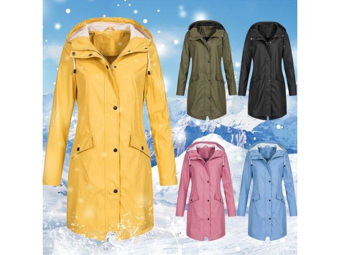 Dámský podzimní nepromokavý kabát - až 5XL