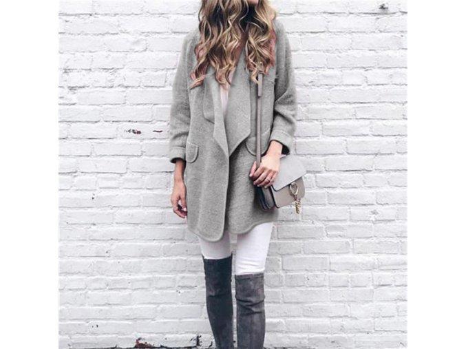 Podzimní hřejivý kabátek s kapsami - 4 barvy