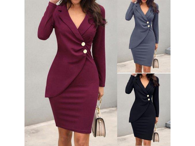 Dámské business společenské midi šaty