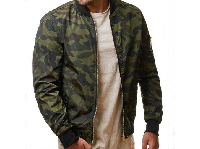 Pánský podzimní bomber camouflage