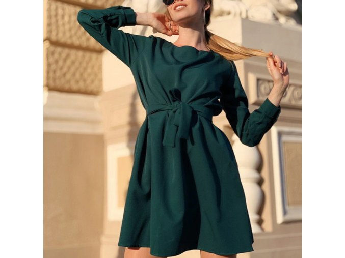 Dámské podzimní šaty se sukní do A - 5 barev