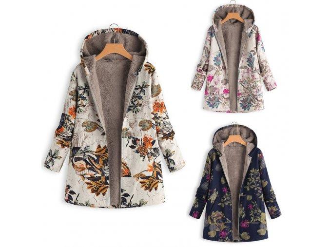 Dámský vyteplený nepromokavý kabátek - 3 varianty až 5XL