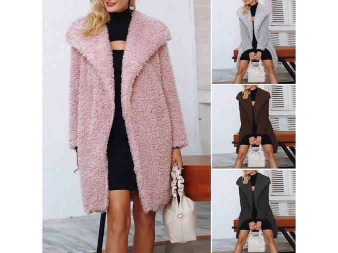 Teplý casual kabátek Teddy - až 5XL