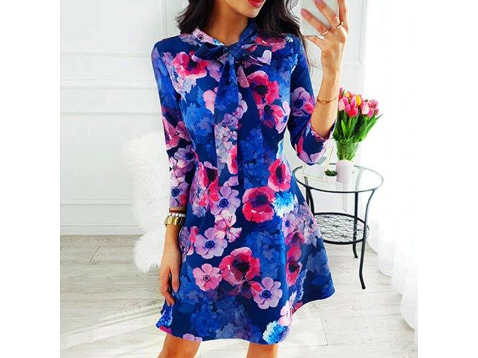 Dámské společenské šaty s květy