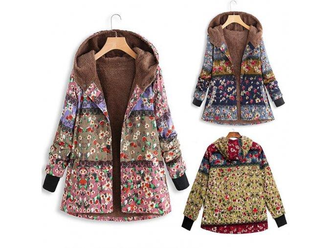 Dámský nepromokavý kabátek s kožíškem - 3 varianty až 4XL