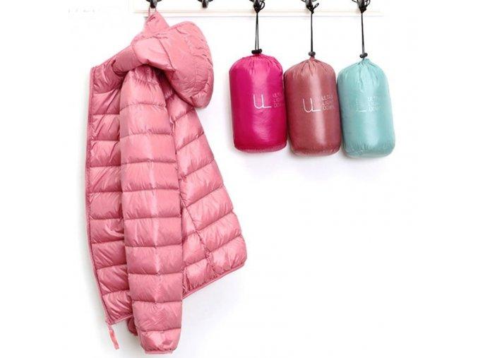 Dámská podzimní lehká teplá prošívaná bunda - až 7XL