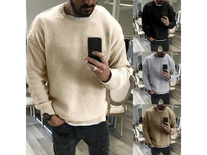 Pánský teplý zimní svetr