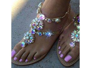 HIT luxusní sandálky s kamínky