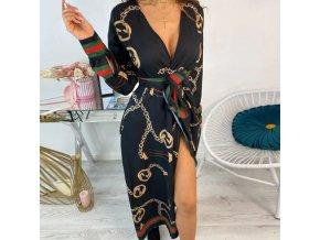 Elegantní šaty na zavazování - 3 barvy