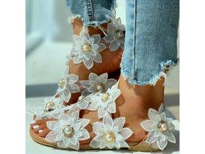 Luxusní sandálky s kytkami - 6 barev