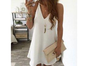 Volné letní jednobarevné šaty - více barev až 5XL