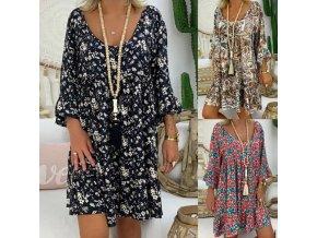 Luxusní letní šaty - 3 vzory až 5XL