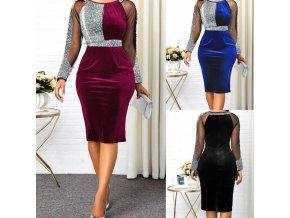 Elegantní krásně řešené šaty vhodné do společnosti a na ples - až5XL