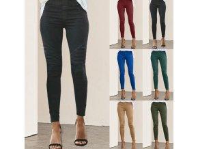 Dámské kalhoty s vysokým pasem hezky zdobené - více barev až 5XL