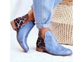 Podzimní kotníkové boty s nízkým podpatkem krásně zdobené