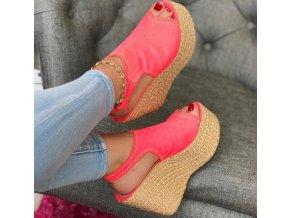 Dámské letní boty na klínu více barev