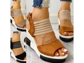 Dámské letní pohodlné sandály na klínku - ve třech barvách