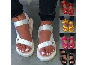 Dámské pohodlné jednobarevné sandály - více barev