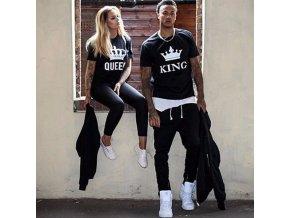 Partnerská trička King + Queen