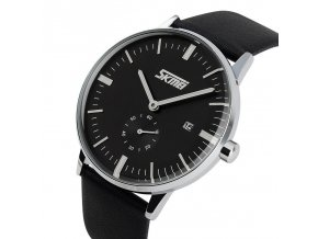 2017 Watches Men Luxury Brand Skmei Genuine Leather Strap Wristwatches Men Casual Watch Fashion Casual Quartz