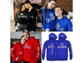Partnerské mikiny King + Queen