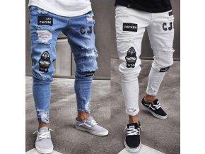 Stylové džíny s nášivkami