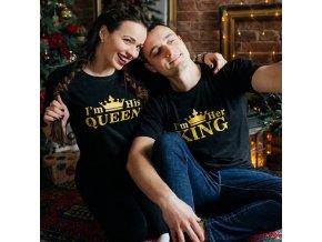 Trička pro páry KING + QUEEN