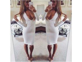 bílý šaty