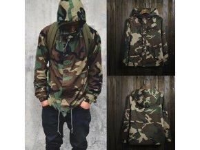 Pánská podzimní maskáčová bunda camouflage