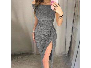 Dámské luxusní společenské metalické šaty - 3 barvy