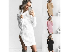 Dámský huňatý dlouhý svetr/šaty