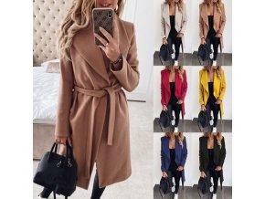 Dámský zimní zavinovací kabát - 6 barev až 3XL