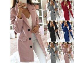 Dámský zimní teplý kabát - 5 barev až 5XL (Barva Černá, Velikost S)