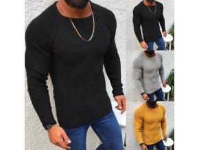 Pánský stylový pletený svetr - 3 barvy