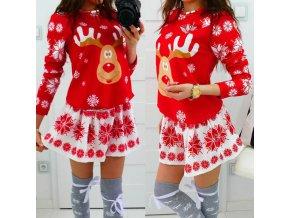Dámské červené vánoční šaty