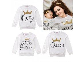 Set maminka tatínek dcera/syn Queen King Prince Princess