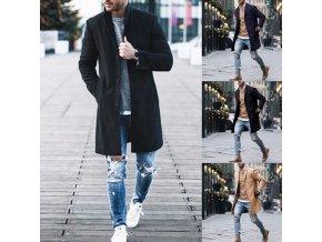 Pánský stylový zimní kabát