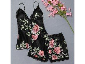 Dámské květované prádlo s krajkou - 3 barvy