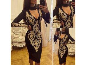 Dámské choker pouzdrové šaty