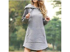 Dámské mikinové šaty - až 3XL