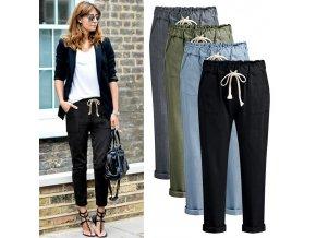 Dámské jarní denimové volné kalhoty