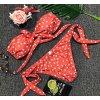 Puntíkované módní plavky bez ramínek