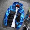 UNISEX šusťáková maskáčová bunda s kapucí