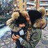 Párové čepice pro maminku s děťátkem